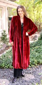 Red Long Classic Coat
