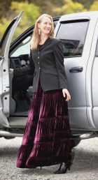 long skirt in wine color
